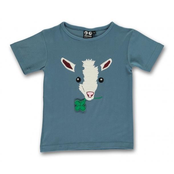 Ubang - T-shirt med geden & firkløver
