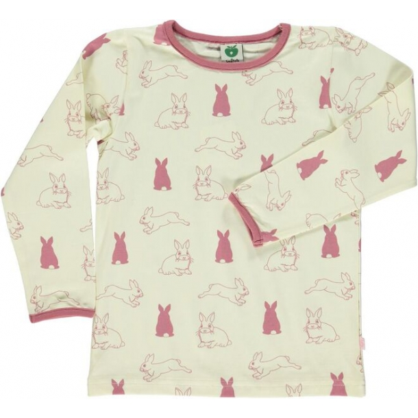 Langærmet t-shirt med kanin