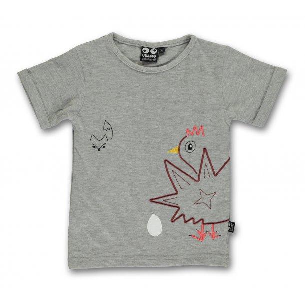 Ubang - T-shirt med høne & ræv